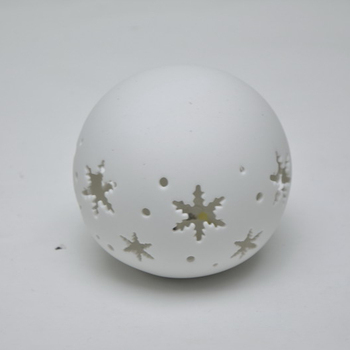 Christmas LED night light ceramic ball hollow out design for Christmas party decoration