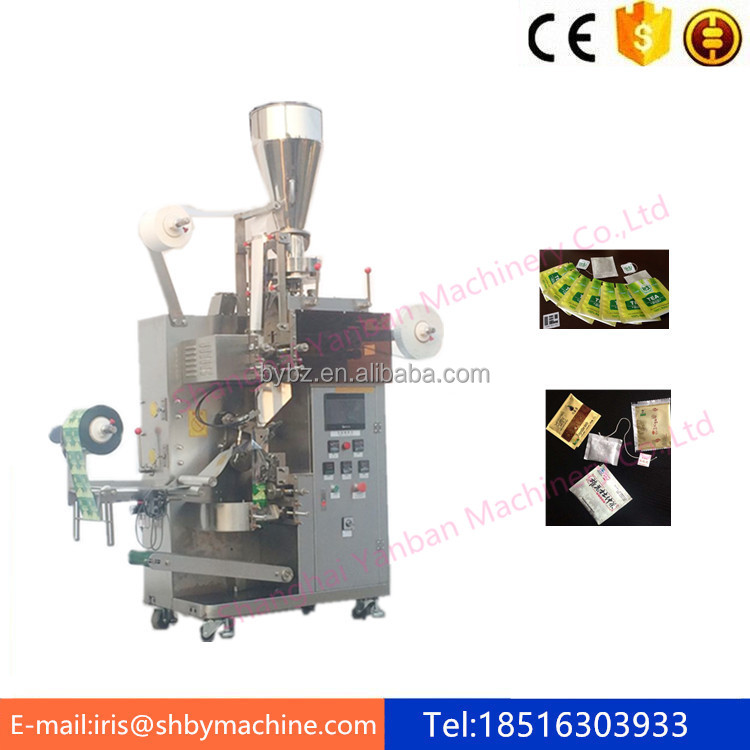 Shanghai YB-180C automatic Teabag with outer bag and line label packing machinery