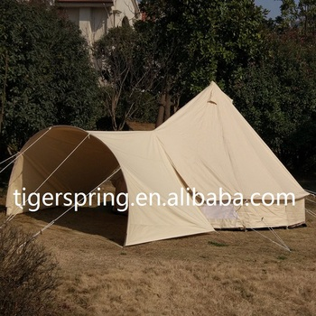 Luxury gl&ing Waterproof Hotel Tent C&ing Canvas Bell Tent with Arch Awning & Luxury Glamping Waterproof Hotel Tent Camping Canvas Bell Tent With ...