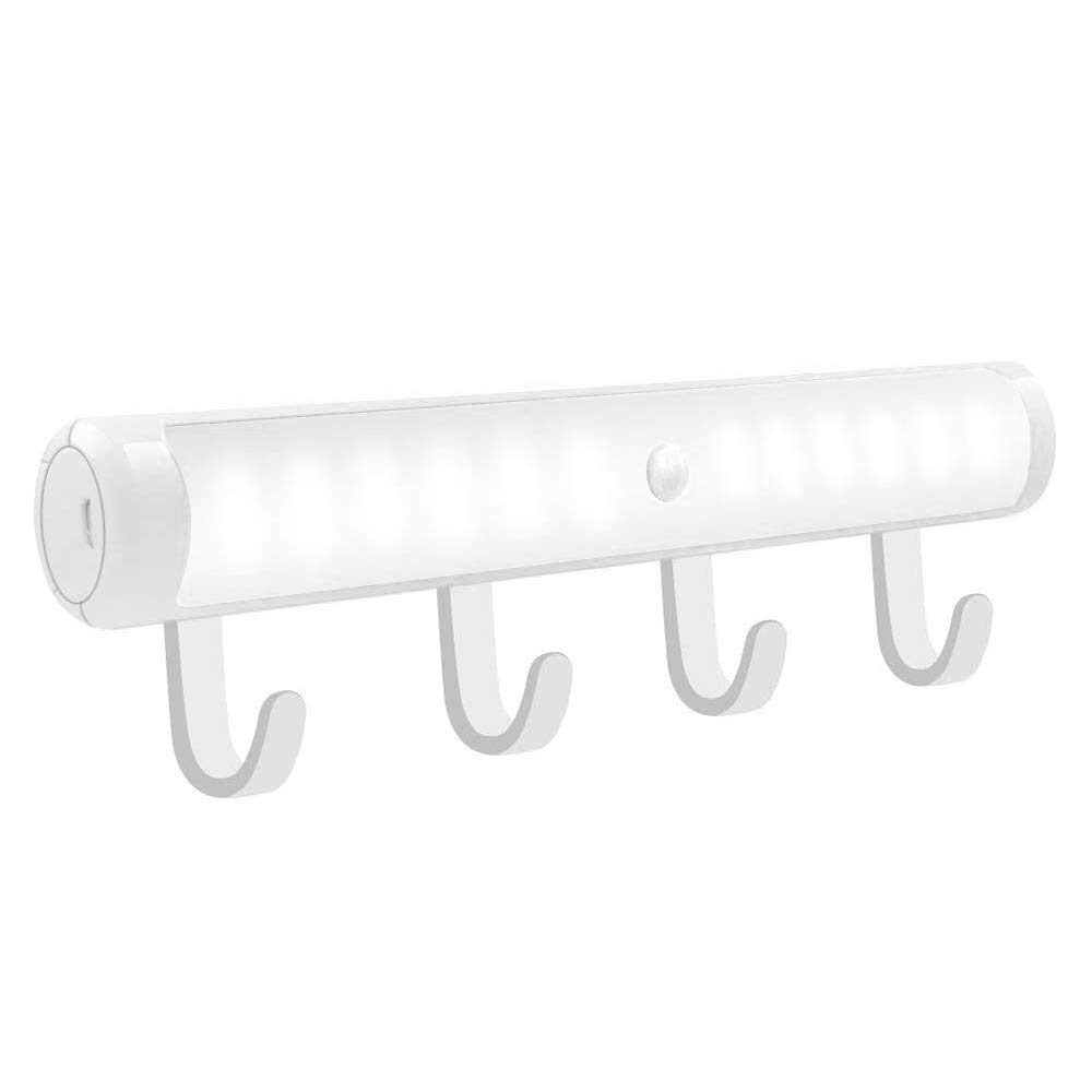 Bonlux Motion Sensor LED Closet Light - Portable Night Light with 4 Separable Hook, Wireless Under Cabinet Light, Stick-on Anywhere for Closet Cabinet Wardrobe Hallway Basement, Daylight 6000K