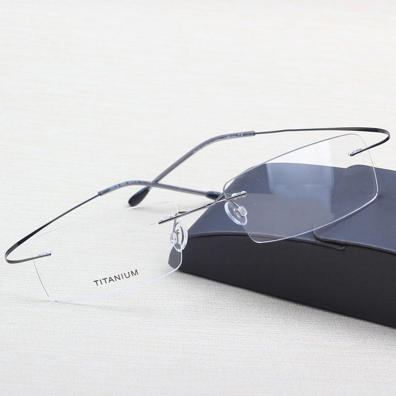 0f782a3f6ef Buy 2016 New Titanium Brand Silhouette Rimless Glasses Frame Men women  Prescription Eyeglasses with Original Case Oculos de grau in Cheap Price on  Alibaba. ...