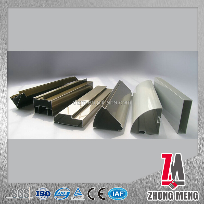 aluminum building material for 6063 systems office furniture profile