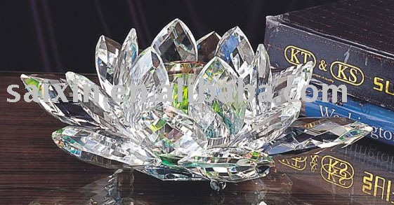 crystal lotus flower candle holder for wedding gift and wedding souvenirs