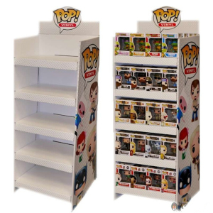 Easy Assemble Funko POP Cardboard Display Stand For Retail