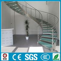UK standard interior home use customized stainless steel curve stairs--YUDI