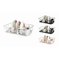 Multi Color Design Dish Drainer Rack with Plastic Tray