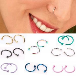 2018 Fashion Septum Medical Titanium Silver Gold Nose Ring Body Clip Hoop For Women Septum Piercing Clip Jewelry Gift