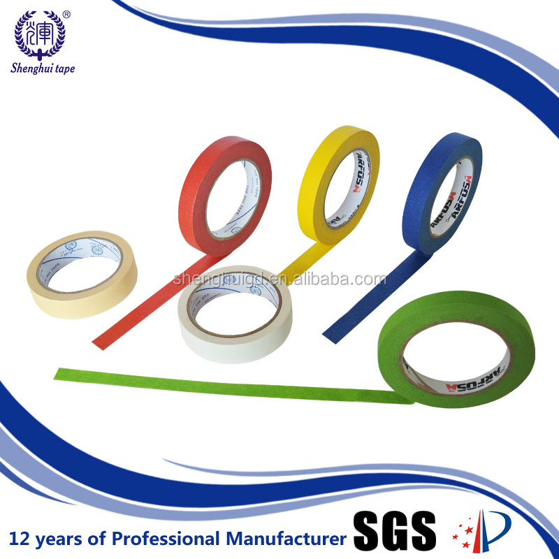 Cheap colorful made in China Steady Good Brand Masking tape base paper