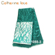 full stones teal green nigerian bridal lace french