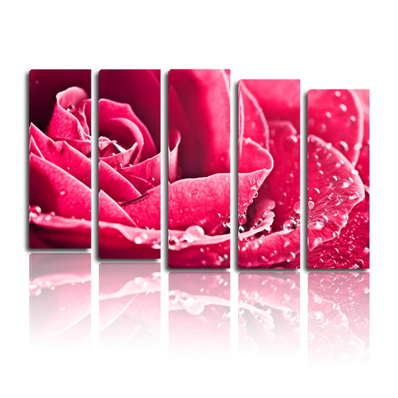 Home goods rose abstract painting wall art canvas painting