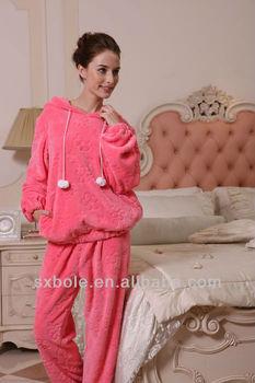 f71dde4426 TWO WINGS cute winter pajamas red flannel pajamas ladies winter nightwear