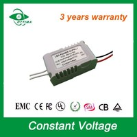 small size power supply constant voltage 12v led driver 3w