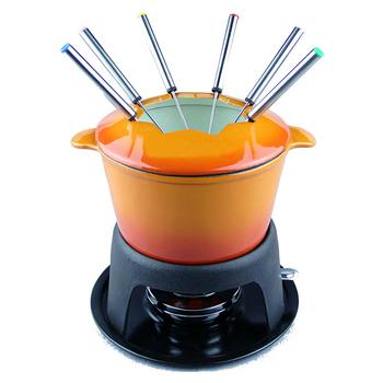 cast iron mini cheese fondue chocolate fondue gift set