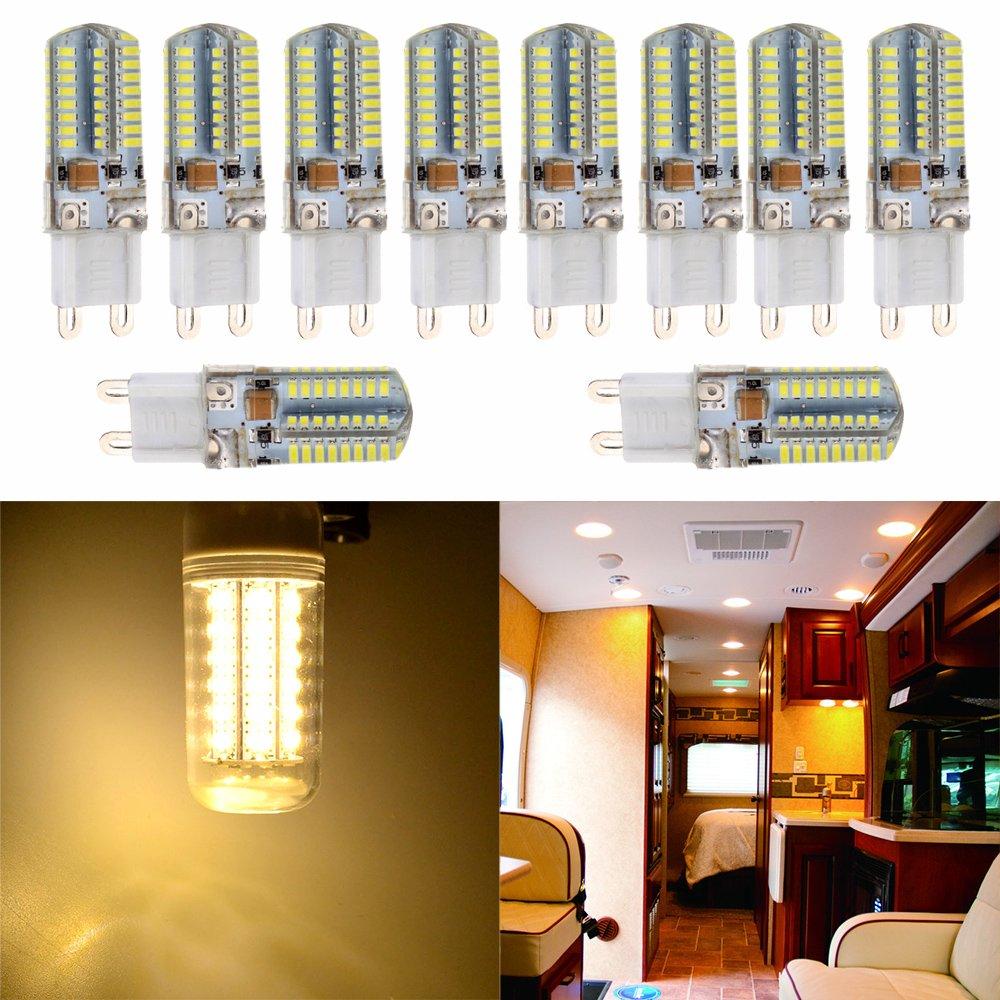 cciyu G9 LED Corn Crystal Light Bulbs 360 Degrees Energy Saving Capsule Spotlight Lamps,G9 Daylight White Bulbs Replacement fit for Home Lighting10 Pack