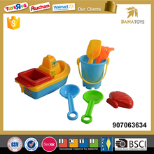 Funny product sand beach boat toy with 6 accessories