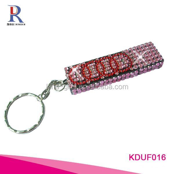 Rhinestone bling bling key ring pen drive