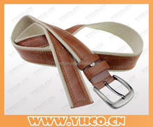 heat transfer printing waist belt with leather for man