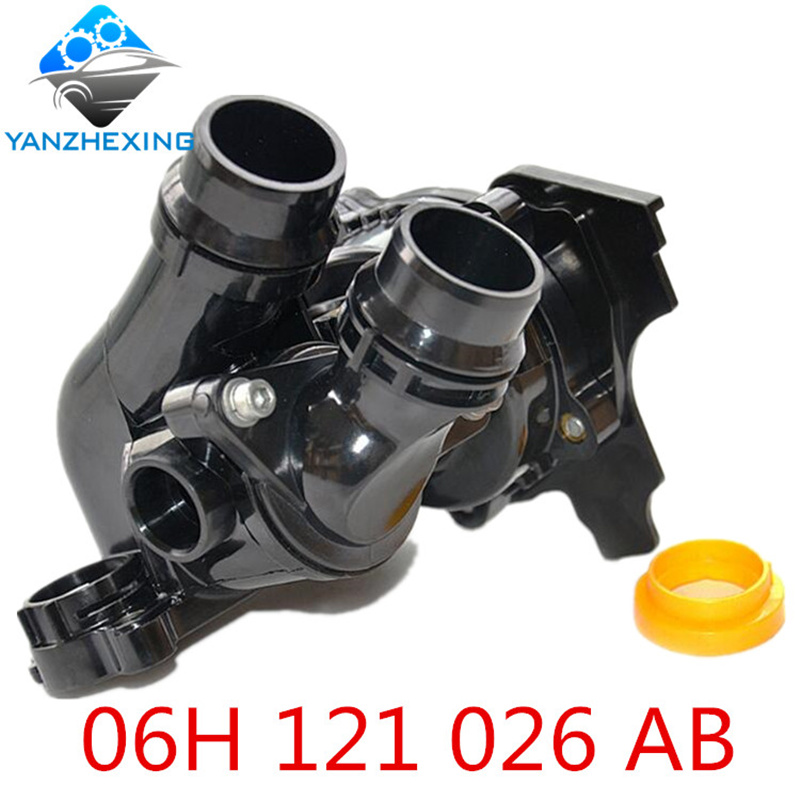 gzyzx Engine Cooling Water Pump Assembly 06H 121 026 06H121026AB For 1.8T 2.0T Jetta Golf Tiguan Passat CC Octavia Seat Leon