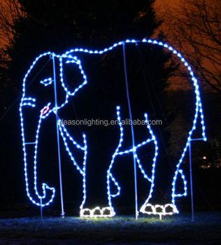 Christmas lighted elephant park decoration rope light motif buy christmas lighted elephant park decoration rope light motif aloadofball Choice Image