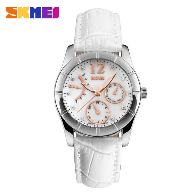 Trend design 5atm water resistant wristwatch white relojes mujer ladies japan movt diamond quartz watch