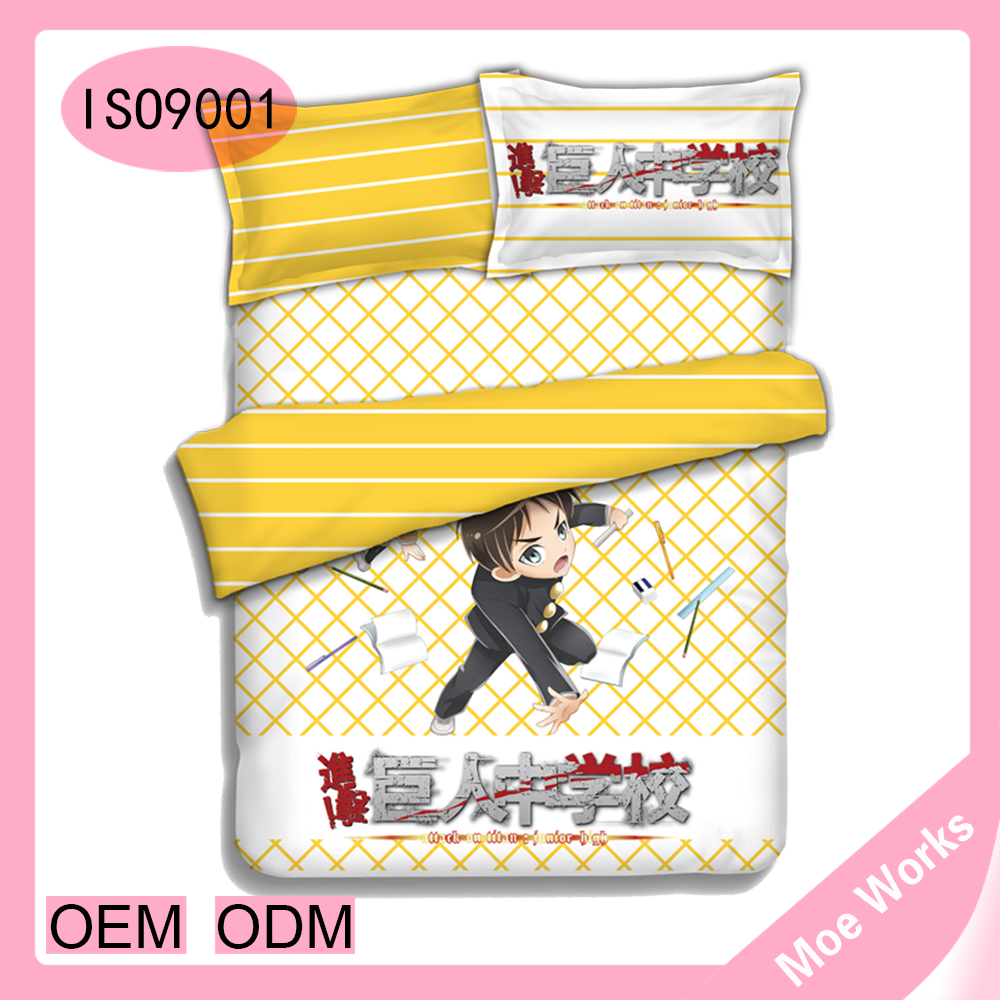 Wholesale Chinese Bedding Set Attack on Titan Eren Jager And Mikasa Ackerman Duvet Cover Bed Sheet