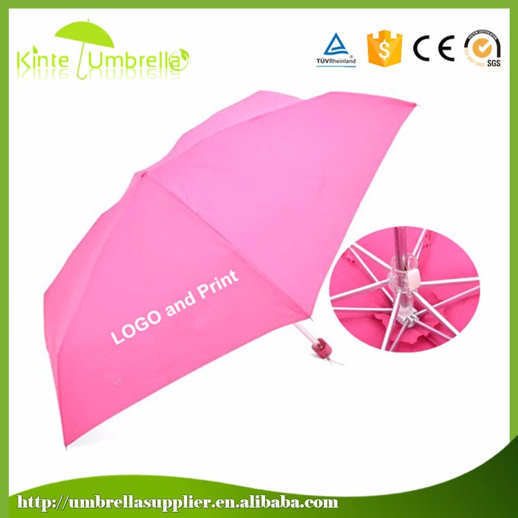 3 fold manual open changing color lady umbrella