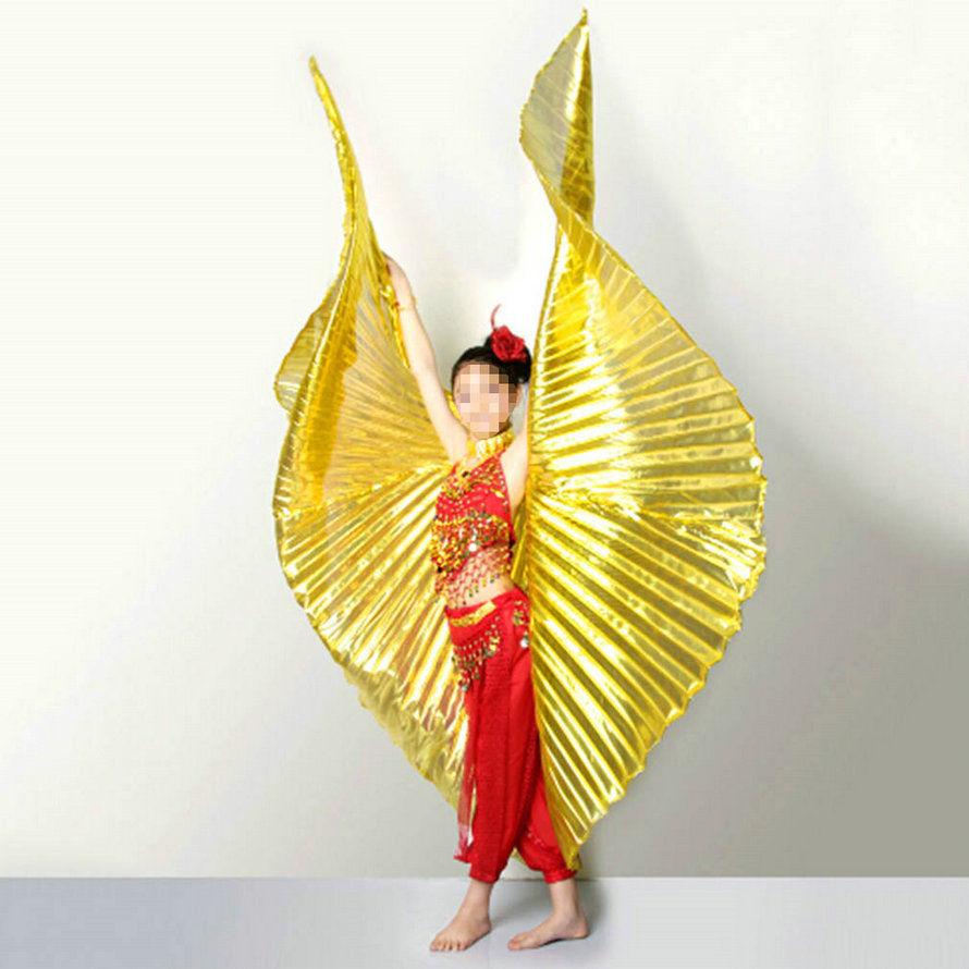New Women/'s  India Egypt Belly Dancing Costume Bifurcate Isis Wings Fancy Dress