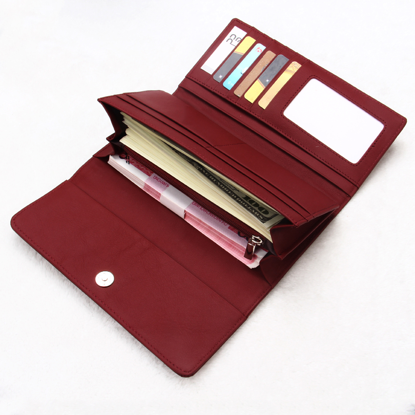 China Full Grain Genuine Leather Designer RFID Ladies Women Wallet Purse handbags