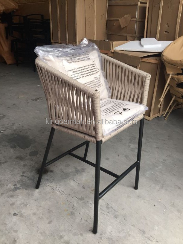 New Design Outdoor Rope Materials Bar Stool Patio Furniture