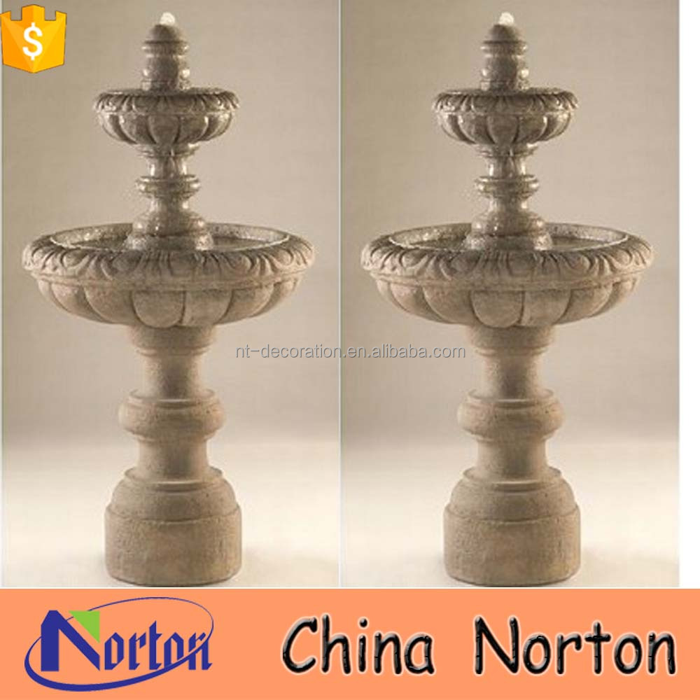 indian design lotus flower bowl stone molds for water fountain NTMF-S404X