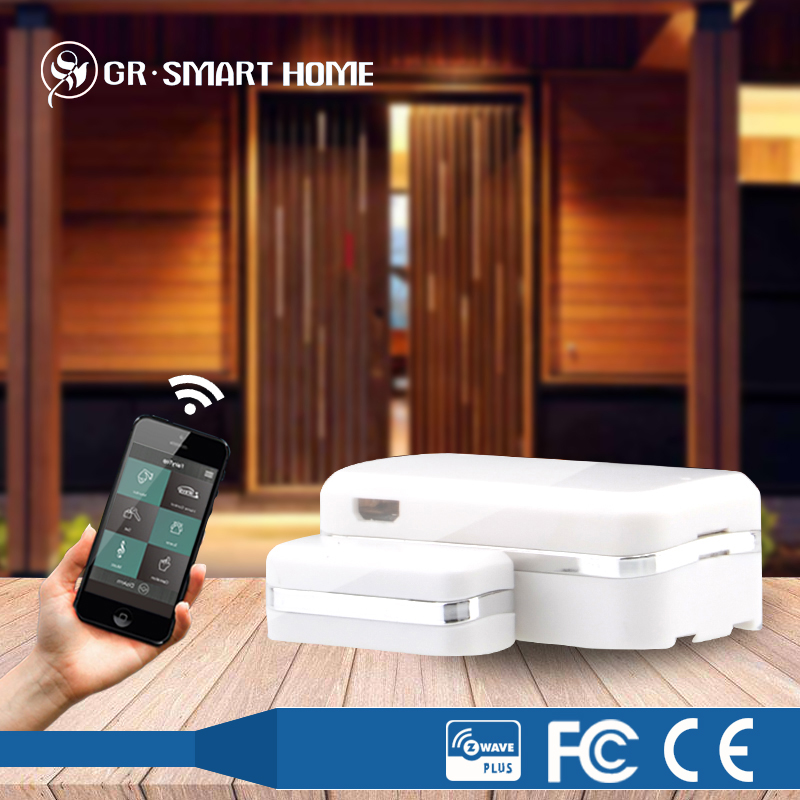 wireless technology z-wave door sensor for home automation