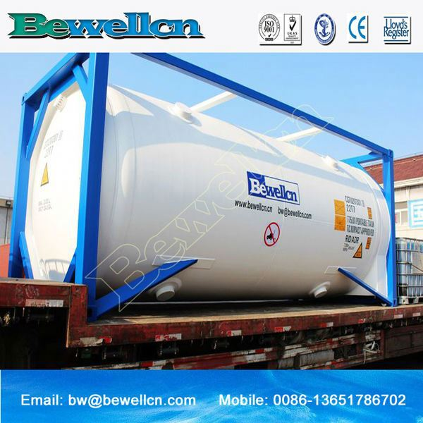 Large Iso Tank Container 20ft Asme Standard Lng Hot Selling Cng