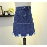 C21843B Women Fashion Denim Cool Short Jean Skirt