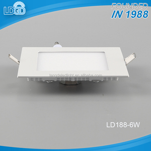factory price dimmable recessed led ceiling light aluminum housing 6w 12w 15w 18w square led panel light