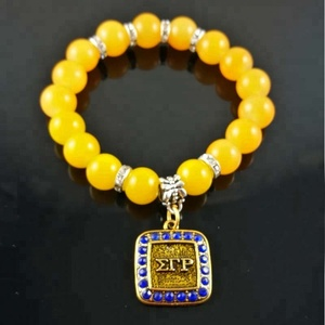 Sigma Gamma Rho Sorority Bead SGR charm Banlge stretch Bracelet Jewerly