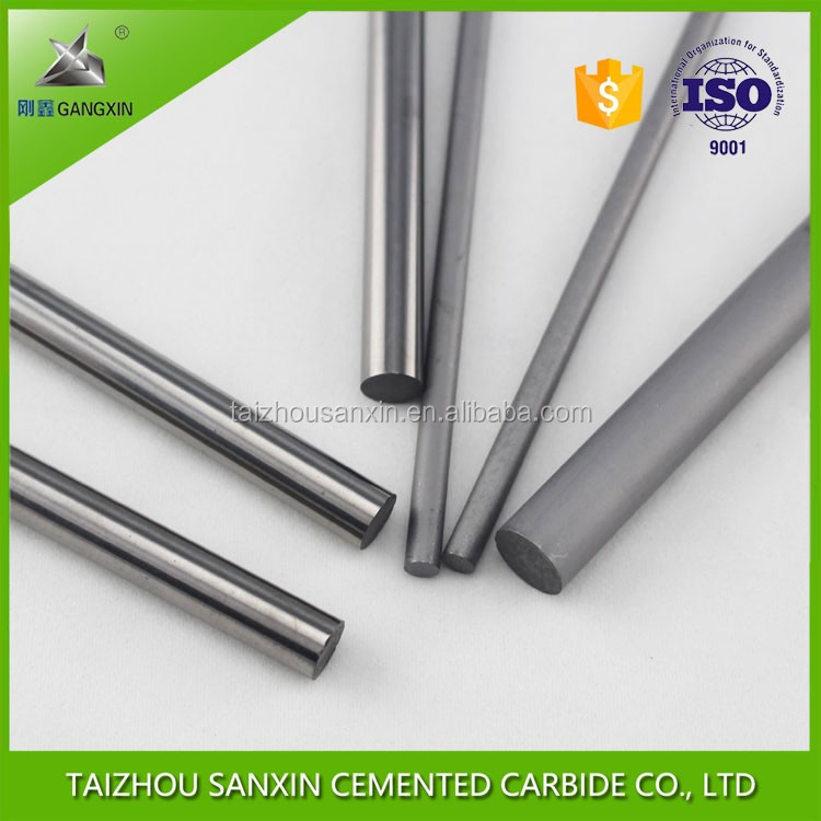 gangxin YG8/K40 ground carbide round rods for end mills ,processing hard wood and mental solid tungsten carbide rods