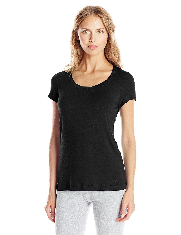 3a0649650d Get Quotations · Nautica Sleepwear Women s Knit Viscose Short Sleeve Tee