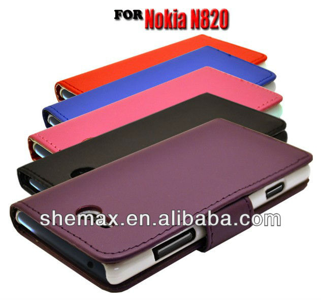 5 COLOUR WALLET BOOK FLIP MOBILE PHONE CASE COVER POUCH FOR NOKIA LUMIA N820 820