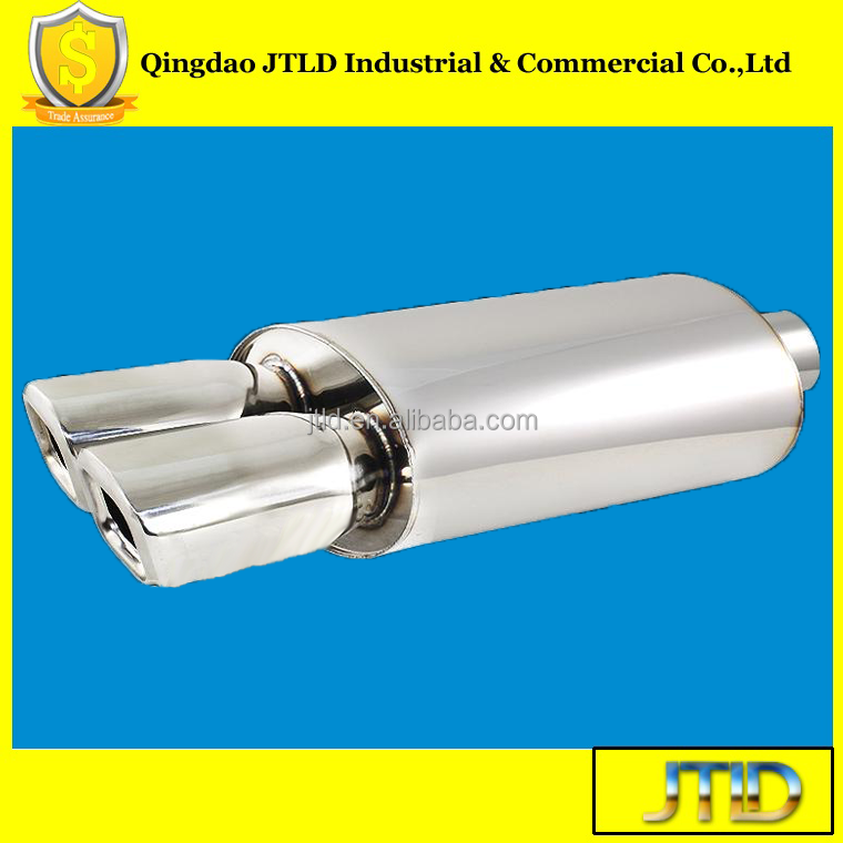 JTLD Universal Good Performance rolled edge exhaust muffler