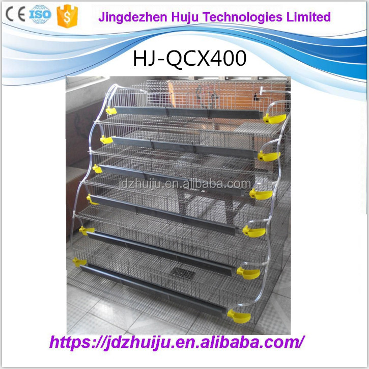 ladder type stainless steel chicken quail cage HJ-QCX400