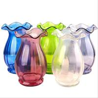 Wholesale Big Glass Vase Jar Colored Glass Flower Vase