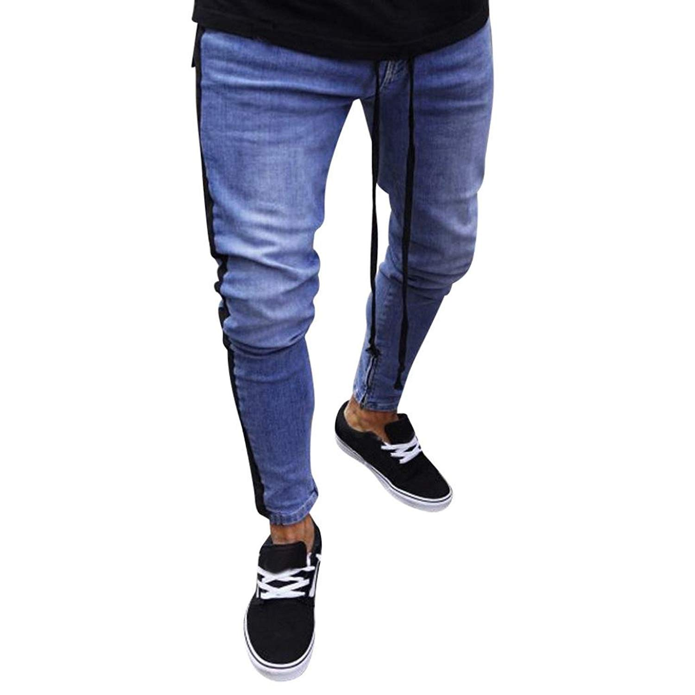 ec0717359d1cfc Get Quotations · Denim Pants,Caopixx 2018 Men's Vintage Drop Crotch Denim Jogger  Pants Slim Fit Zipper Jeans