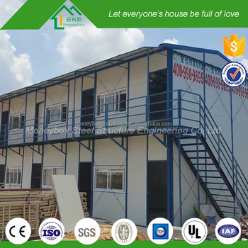 Low Cost Charity Plan Prefab Steel Apartment Building With Entry