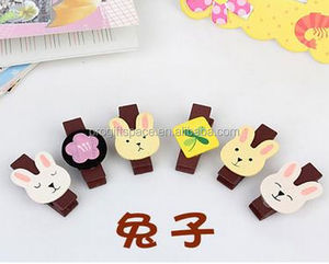 hot 2018 top quality lastest design dolls accessories home decor wedding gift craft wood rabbit clips