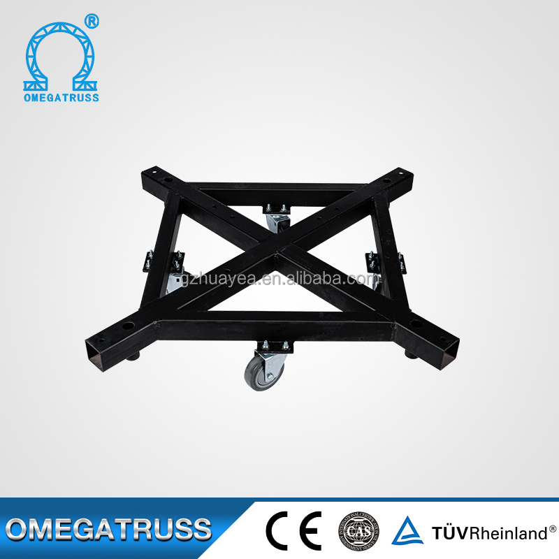 TUV certification black Steel truss base with wheels
