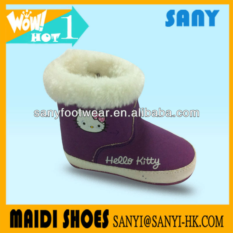 Wholesale Kid Boots Soft Fur Sheepskin Baby Shoes For Winter