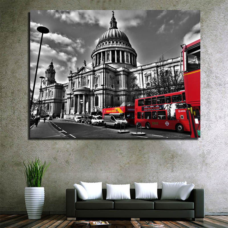 London Street View Canvas Painting Home Goods Wall Art Painting Wall Pictures Home Decor Wall Decoration Painting On Canvas Buy London Street View