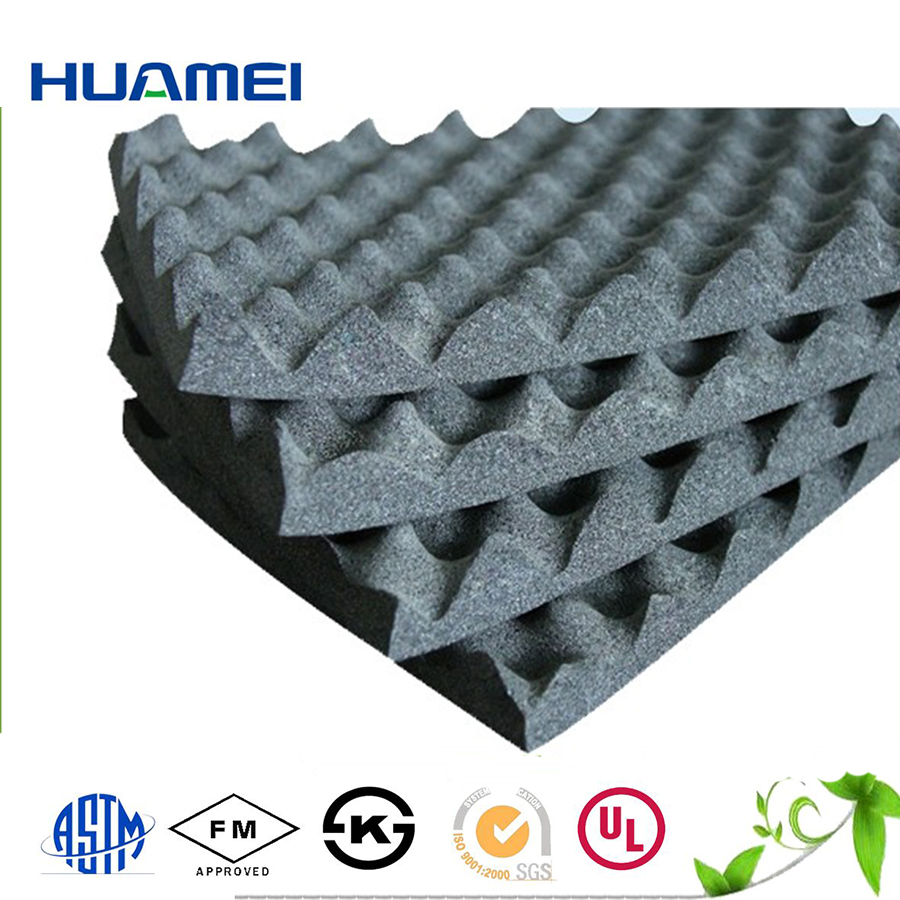 Eco - friendly factory price rubber foam acoustic wall panels for noise reduction