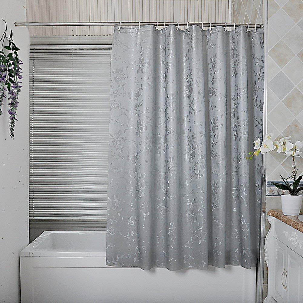 Get Quotations YAOHAOHAO Heel Shower Curtains Mold Blackout Drapes Partition Waterproof Hanging Cloth