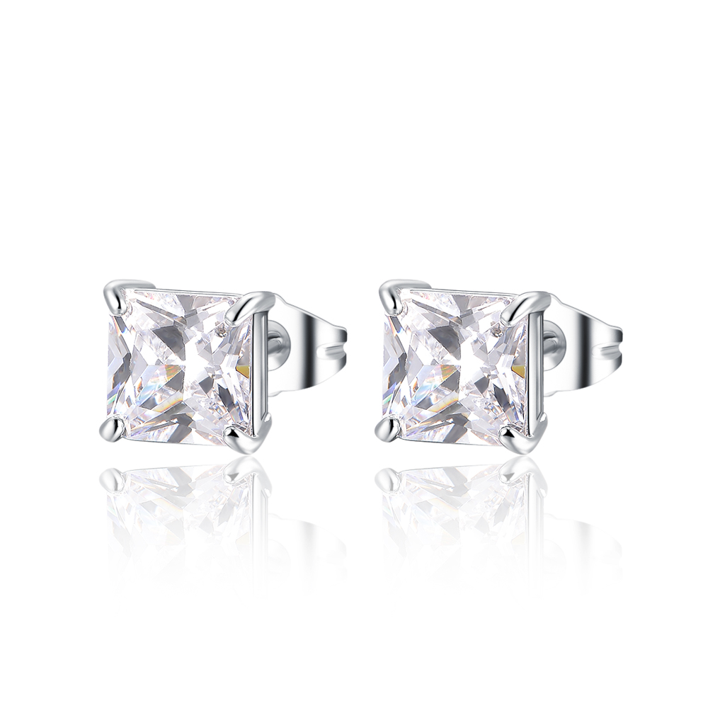 Stud Gold Plated Cubic Zircon Light Weight Gold Earring